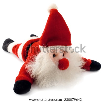 santa claus toy isolated on white background