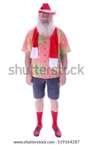 Santa Claus wears his Street Clothes when not at work on Christmas Eve