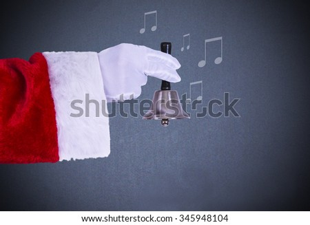 santa claus with bell - stock photo