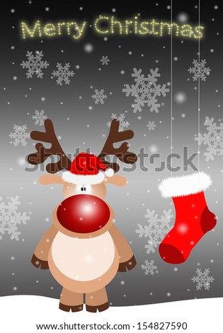 Santa Claus with reindeer for Christmas
