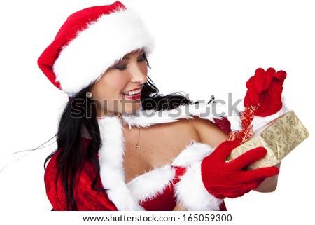 santa claus woman - stock photo