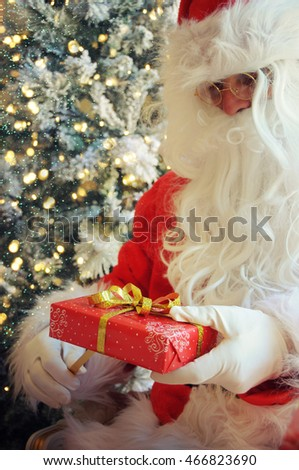 Santa Clause with gift