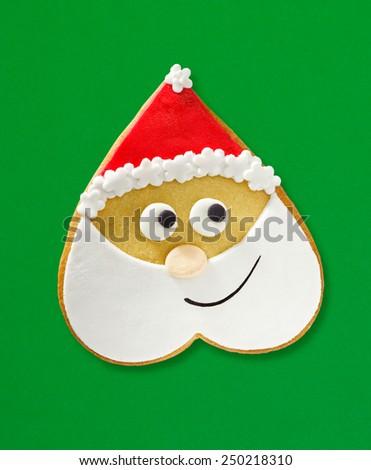 Santa cookie - stock photo