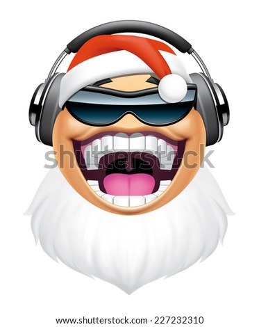 Santa dj character  - stock photo