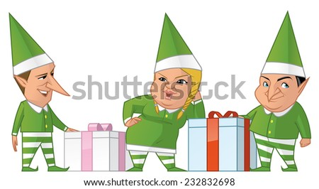 Santa efls group - stock photo