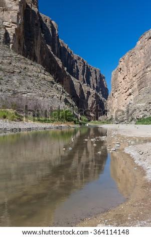 Santa Elena Canyon, Big Bend National Park, Texas, USA - stock photo