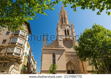 Santa Eulalia church, Palma de Mallorca - stock photo
