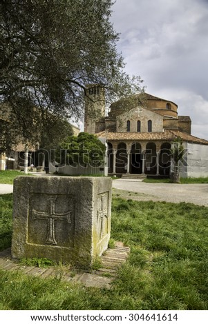 Santa Fosca cathedral and basilica on the island of Torcello which is the oldest building in the lagoon