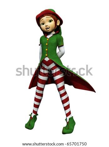 santa girl what - stock photo