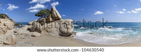 Santa Giusta beach (Costa Rei,Sardinia.Italy) - stock photo