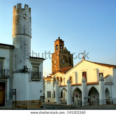 Santa Maria church in Beja, Portugal