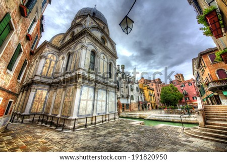 Santa Maria dei Miracoli, Venice - stock photo