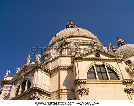 Santa Maria delle Salute church in Venice, Italy - stock photo