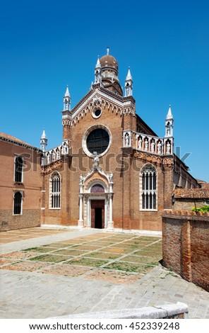 Santa Maria Gloriosa dei Frari at Venice, Italy. - stock photo