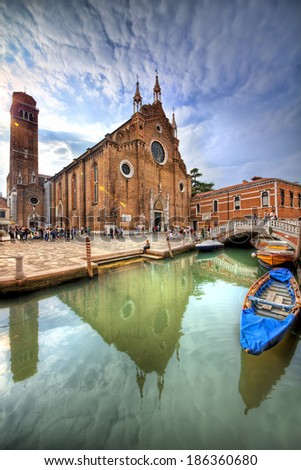 Santa Maria Gloriosa dei Frari, Venice - stock photo