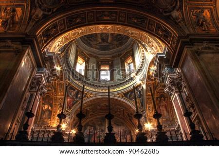 Santa Maria Maggiore Church in Rome, Basilica - stock photo