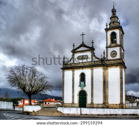 Santa Marta de Portuzelo church in Portugal