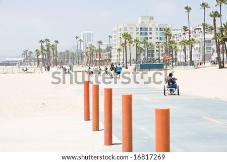 Santa monica beach - stock photo