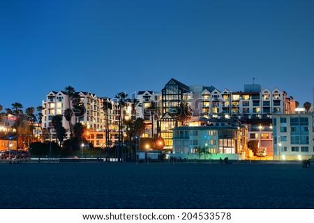 Santa Monica beach in Los Angeles - stock photo