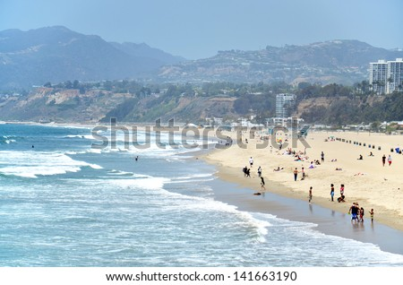 Santa Monica beach, Los Angeles, California, USA. - stock photo