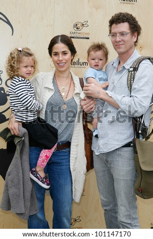 SANTA MONICA, CA - APRIL 22: Ana Ortiz arrives with her family at the Annenberg Beach House for an Earth Day celebration on April 22, 2012 in Santa Monica, CA.