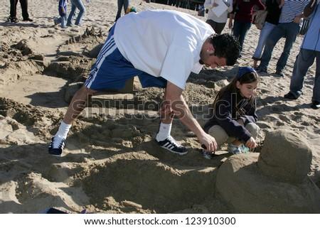 SANTA MONICA, CA - DECEMBER 02: Jordan Farmar at Kohl's Holiday Sandman Building Competition on December 02, 2006 at Santa Monica Beach, Santa Monica, CA. - stock photo