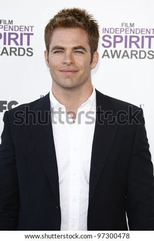 SANTA MONICA, CA - FEB 25: Chris Pine at the 2012 Film Independent Spirit Awards on February 25, 2012 in Santa Monica, California