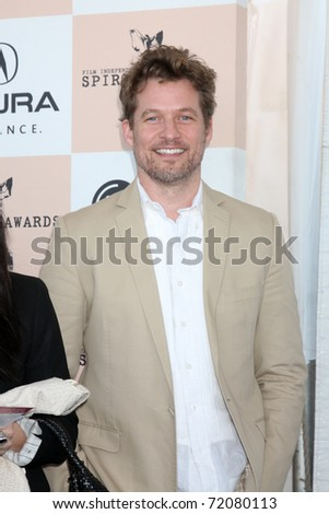 SANTA MONICA, CA - FEB 26:  James Tupper arrives at the 2011 Film Independent Spirit Awards at the Beach on February 26, 2011 in Santa Monica, CA - stock photo