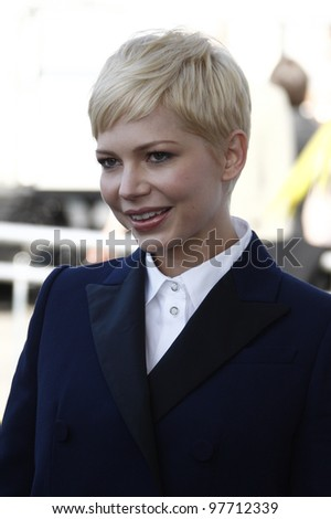 SANTA MONICA, CA - FEB 25: Michelle Williams at the 2012 Film Independent Spirit Awards on February 25, 2012 in Santa Monica, California