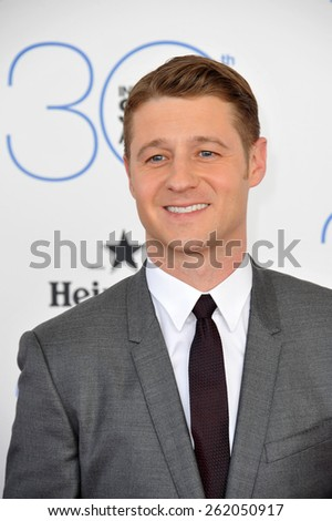 SANTA MONICA, CA - FEBRUARY 21, 2015: Benjamin McKenzie at the 30th Annual Film Independent Spirit Awards on the beach in Santa Monica.