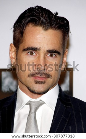 "SANTA MONICA, CA - FEBRUARY 23, 2012: Colin Farrell at the 7th Annual ""Oscar Wilde: Honoring The Irish In Film"" Pre-Academy Awards Event held at the Bad Robot, Los Angeles. - stock photo"