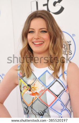 SANTA MONICA, CA - FEBRUARY 21, 2015: Gillian Jacobs at the 30th Annual Film Independent Spirit Awards on the beach in Santa Monica.
