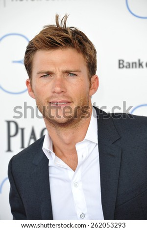 SANTA MONICA, CA - FEBRUARY 21, 2015: Scott Eastwood at the 30th Annual Film Independent Spirit Awards on the beach in Santa Monica.
