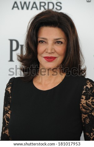 SANTA MONICA, CA - MARCH 1, 2014: Shohreh Aghdashloo at the 2014 Film Independent Spirit Awards on the beach in Santa Monica, CA.