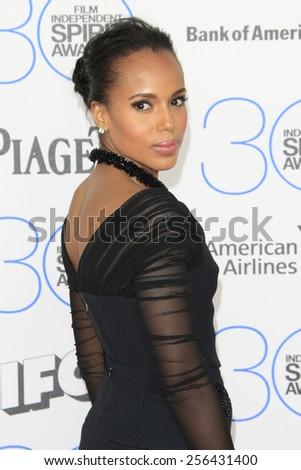 SANTA MONICA - FEB 21: Kerry Washington at the 2015 Film Independent Spirit Awards on February 21, 2015 in Santa Monica, California - stock photo