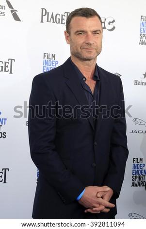 SANTA  MONICA - MAR 1: Liev Schreiber at the 2016 Film Independent Spirit Awards at Santa Monica Beach on February 27, 2016 in Santa Monica, California - stock photo