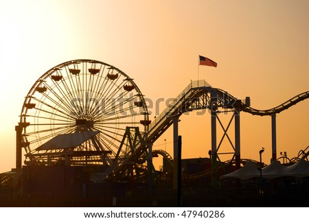 Santa Monica pier in Los Angeles, California