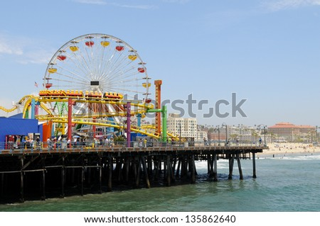 Santa Monica Pier, Los Angeles - stock photo