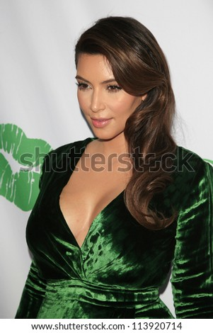 SANTA MONICA - SEP 25: Kim Kardashian at the Midori Makeover Parlour at Fred Segal on September 25, 2012 in Santa Monica, California - stock photo
