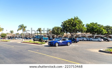 SANTA MONICA, USA - CIRCA JAN 2014: Premium Outlets in Santa Monica, USA. Premium Outlet are located across the United States and offer discounts and special promotions. - stock photo