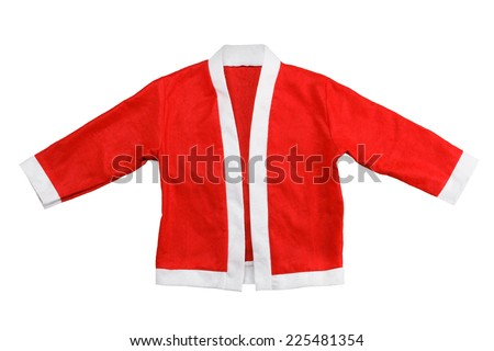 Santa's red jacket isolated on a white background - stock photo