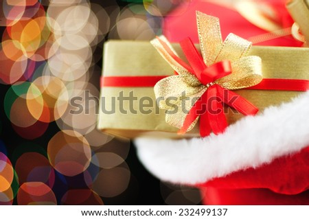 Santa's sack full with gifts