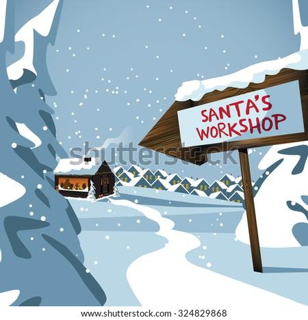 how to draw north pole cartoon