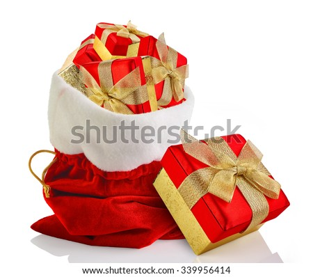Santa sack full with presents