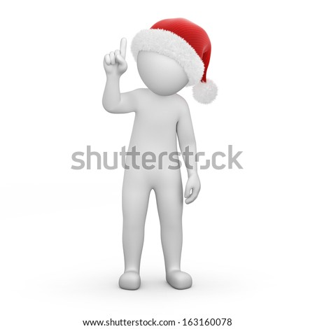Santa with an important information - stock photo