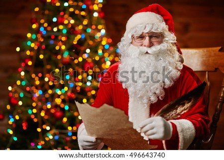 Santa with wishes