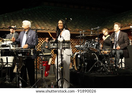 SANTA YNEZ, CA - MAY 30: Pete Escovedo and Sheila E at 'Rhythm on the Vine' charity event to benefit Shriners Children Hospital at the Gainey Vineyard May 30, 2009 in Santa Ynez, California