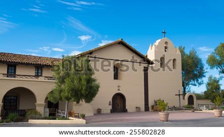 Santa Ynez mission in Solvang California - stock photo