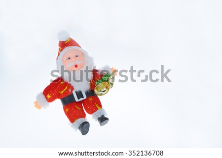 santaclaus ready to entertain on xmas eve - stock photo