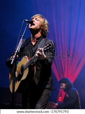 SANTANDER, SPAIN - JULY 22: Mando Diao (band), performs at Santander Amstel Music Festival on July 22, 2011 in Santander, Spain.